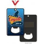 """Vibraprint Black Nickel Bottle Opener Medallion (3-1/4'' x 2"""") Logo Branded"""
