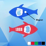 Logo Branded Shark Shape Magnetic Bottle Opener