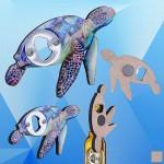 Sea Turtle Shaped Magnetic Bottle Opener Logo Branded