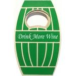 Jumbo Size Oak Barrel Magnetic Bottle Opener Logo Branded