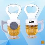 3 5/8'' Magnetic Beer Mug Bottle Opener Logo Branded