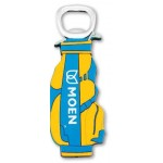 Stock Shape Gold Bag Rubber Softies Bottle Opener Logo Branded