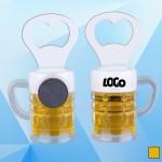 3 3/4'' Magnetic Beer Mug Bottle Opener Logo Branded