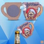 Cup Shaped Magnetic Bottle Opener Custom Printed