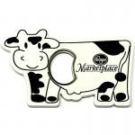 Custom Printed Jumbo Size Cow Shape Magnetic Bottle Opener