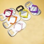 Flip Flop Sandal Shaped Bottle Opener Logo Branded
