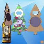 Promotional Christmas Tree Shaped Magnetic Bottle Opener