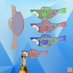 Custom Imprinted Shark Shaped Magnetic Bottle Opener