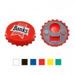 Logo Branded Bottle Cap Shaped Magnetic Bottle Opener