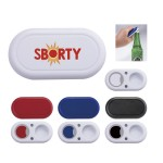 Logo Branded Traditional Twist Cap Bottle Opener w/Magnet(CLOSEOUT)