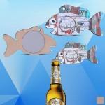Promotional Clownfish Shaped Magnetic Bottle Opener