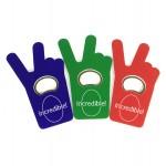 Jumbo Size V Sign / Finger Bottle Shape Magnetic Bottle Opener Logo Branded