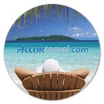 Circle Removable Adhesive Mouse Pad / Counter Mat Logo Branded