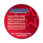 """8"""" Round Hard Top Custom Calendar Mouse Pad with 1/8"""" Thick Rubber Base Logo Branded"""