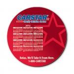 "8"" Round Hard Top Custom Calendar Mouse Pad with 1/8"" Foam Base Custom Imprinted"