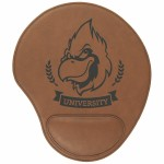 Dark Brown Leatherette Mouse Pad Custom Imprinted