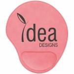 Custom Printed Pink Leatherette Mouse Pad