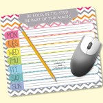 """MousePaper 24 Page 7.25""""x8.5"""" Note Paper MousePad Logo Branded"""