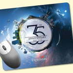 """Promotional ReTreads 8""""x9.5""""x3/32"""" Recycled Hard Surface Mouse Pad"""