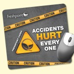 "Custom Imprinted Origin'L Fabric 7.5""x8""x1/4"" Antimicrobial Mouse Pad"