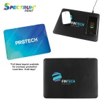 Custom Printed Cyberspace Wireless Charging Mouse Pad