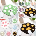 Logo Branded Cat Paw Shape Cute Mousepad