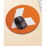 Round Recycled Mouse Mat Logo Branded