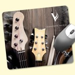 """Custom Printed ReTreads 7""""x8""""x3/32"""" Recycled Hard Surface Mouse Pad"""