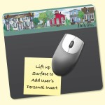 "Custom Imprinted Frame-It Lift DuraTec 7.5""x8""x1/16"" Lift-Top Window/Photo MousePad"