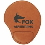 Logo Branded Rawhide Leatherette Mouse Pad