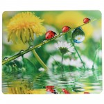 Custom Imprinted Full Color Waterproof Fabric & Natural Rubber Mouse Pad