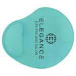 """9"""" x 10 1/4"""" Teal Laserable Leatherette Mouse Pad Custom Printed"""