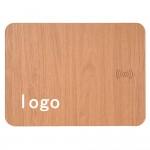 Wood grain Wireless Charging Mouse Pad Custom Imprinted