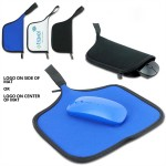 Logo Branded Travel Carrying Mouse Bag and Pad Combo