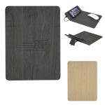 Woodgrain Wireless Charging Mouse Pad With Phone Stand Logo Branded