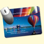 """Custom Printed Barely There 6""""x8""""x.02"""" UltraThin, Hard Surface MousePad"""