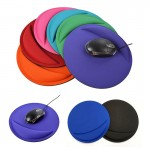 Round Mouse Pad With Wrist Rest Custom Printed