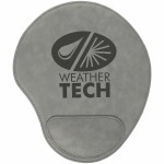 Promotional Gray Leatherette Mouse Pad
