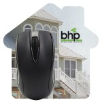 House Shaped Dye Sublimated Computer Mouse Pad Custom Imprinted
