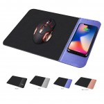 Custom Imprinted 10W PU Leather Mouse Pad/Mat with Wireless Charger