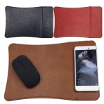 Promotional Wireless Charging Mouse Leather Pad mat Multifunctional Compact
