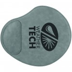 """Custom Imprinted 9x10.25"""" Gray Leatherette Mouse Pad"""