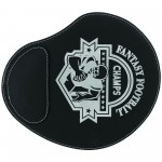 """9x10.25"""" Black/Silver Leatherette Mouse Pad Logo Branded"""