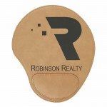 """Promotional 9x10.25"""" Light Brown Leatherette Mouse Pad"""