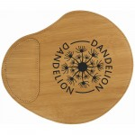 """Custom Printed 9"""" x 10 1/4"""" Bamboo Laser engraved Leatherette Mouse Pad"""