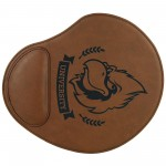"""Promotional 9x10.25"""" Dark Brown Leatherette Mouse Pad"""