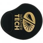 "9x10.25"" Black/Gold Leatherette Mouse Pad Custom Imprinted"