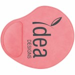 """9x10.25"""" Pink Leatherette Mouse Pad Logo Branded"""