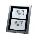 """Custom Imprinted Brushed Aluminum Shadow Box Frame with Black Matte (7-1/2"""" x 9-1/2"""" Opening)"""