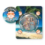 Picture Frame w/ Round Circle Shape Cut-Out Vinyl Magnet - 30mil Custom Printed